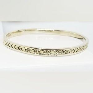 Vintage Gold MONET Filigree Bangle